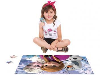 Quebra Cabeça Grandão Disney Frozen 120 Peças - Toyster