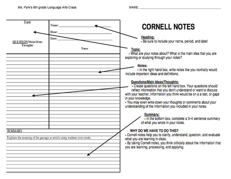 The 25+ best Math cornell notes ideas on Pinterest Cornell notes - cornell note template