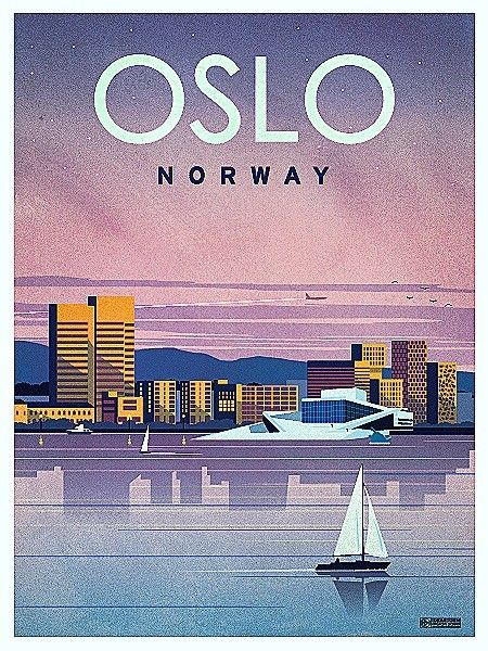 Wow I've never seen Oslo looking so modern! Very chic. #oslo #travelposter