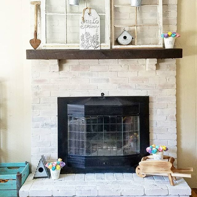 Here It Is The Before And After Photos Of Our Finished Fireplace