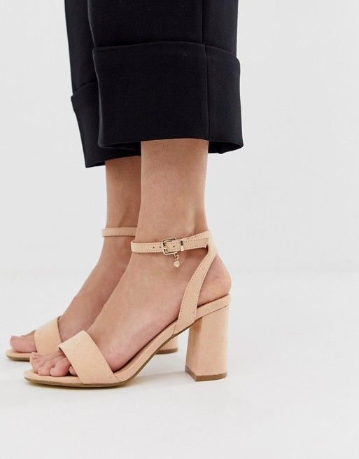 dda04cb2aa6 Office Marigold light pink block heeled sandals in 2019   Women ...