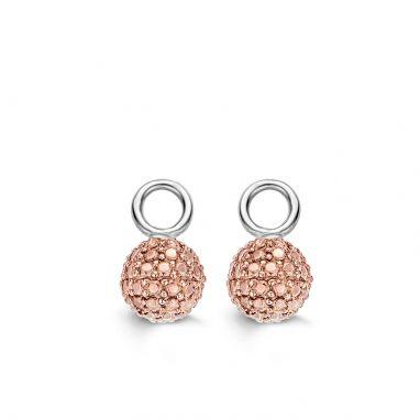 Ti Sento 9052RD rosevergulde zilveren oorbelbedels