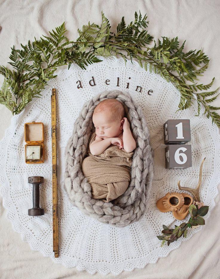 Boho Neugeborenen Ankündigung Fotografie Ideen mi…