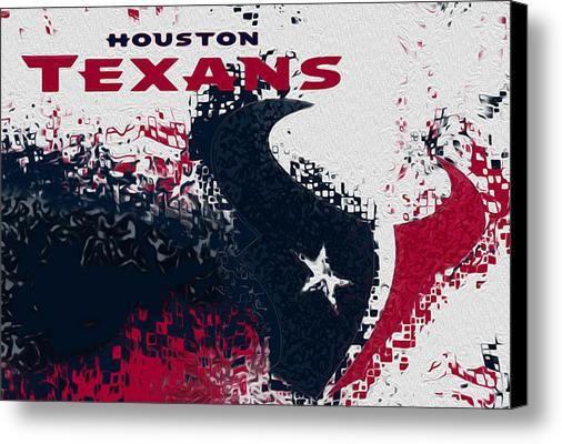 Houston Texans Canvas Print / Canvas Art By Jack Zulli