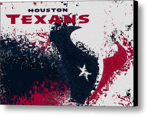 Houston Texans Canvas Print / Canvas Art By Jack Zulli