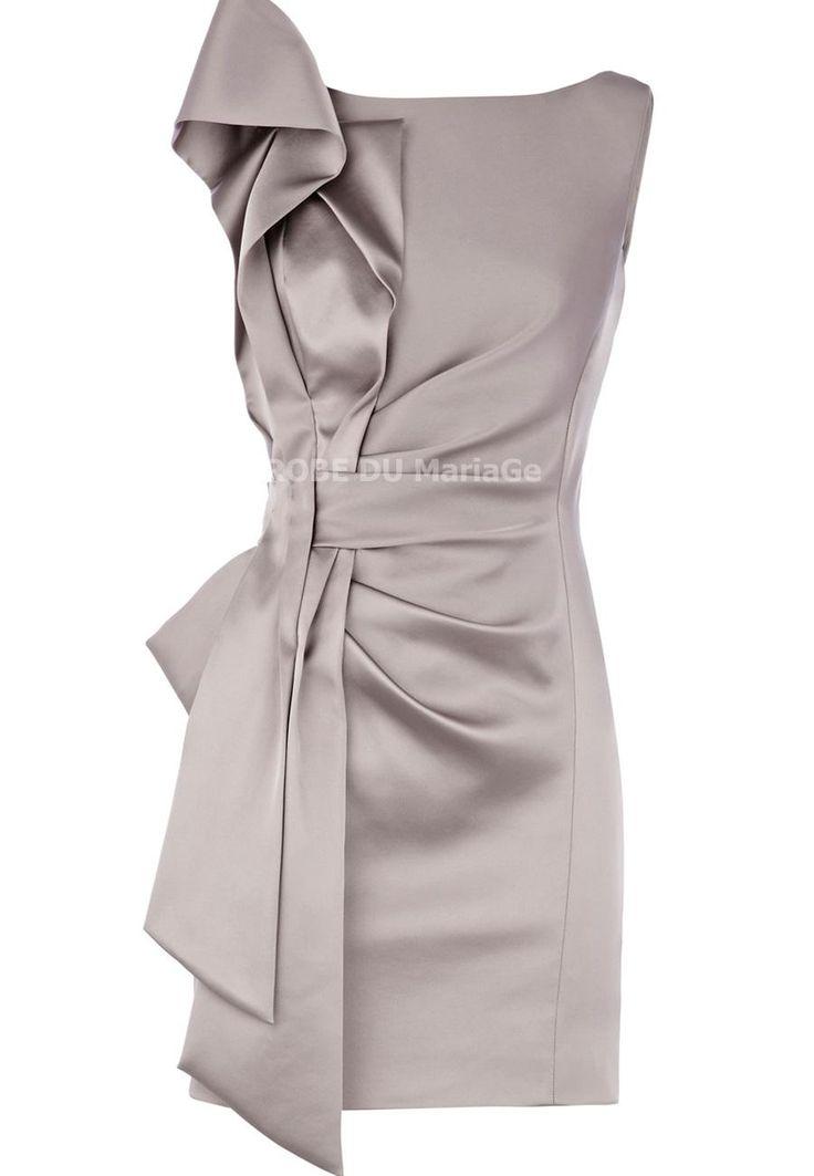 Robe de cocktail pas cher sur mesure robe de cocktail pour mariage Prix : €67,99 Lien pour cette robe : http://www.robedumariage.com/robe-de-cocktail-elegante-courte-asymetrique-ruban-ruches-satin-pas-chere-product-4201.html  -45% sur tous les produits immanquable !!!!