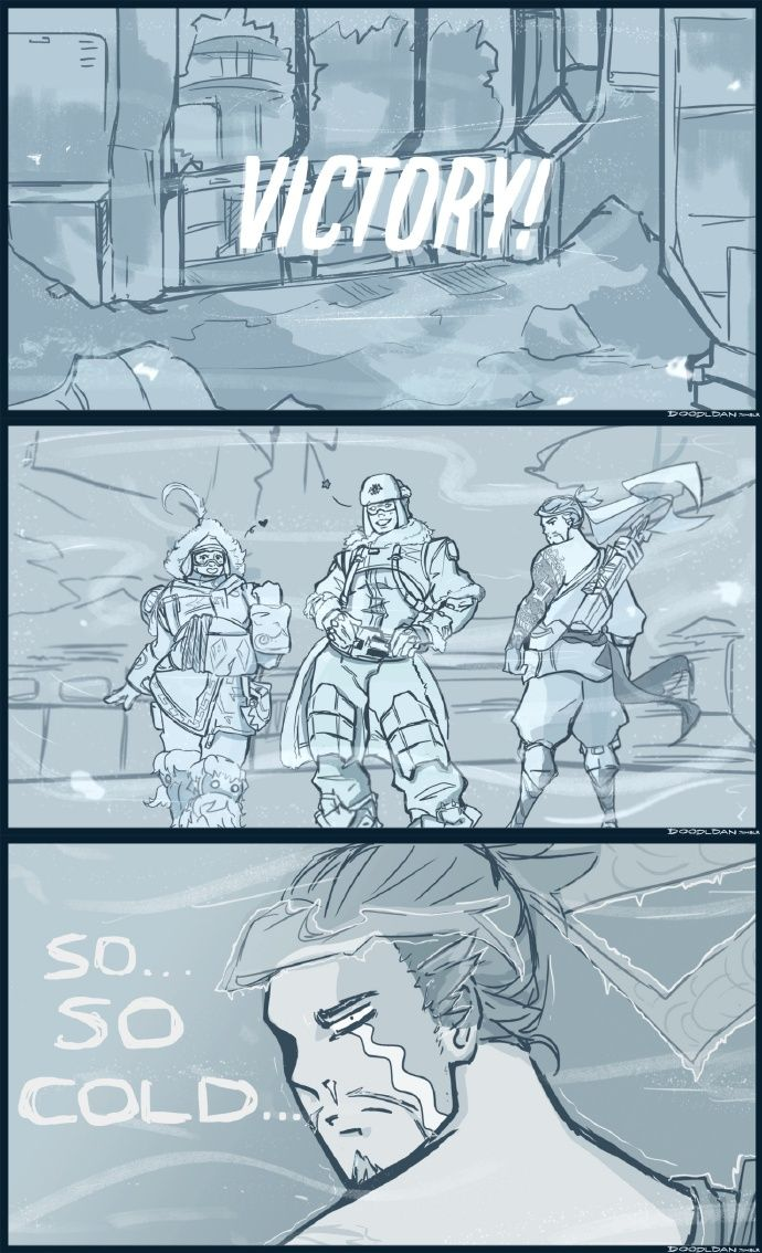 Explains why i can't play hanzo on watchpoint : Antarctica!  Overwatch,  overwatch hanzo,  hanzo,  overwatch funny,  overwatch memes, overwatch comic, overwatch mei zarya 3v3