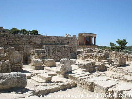 Knossos in Heraklion on the island of Crete in Greece