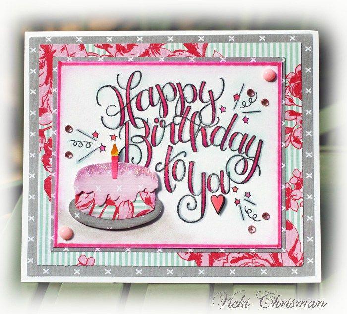 Happy Birthday Card by Vicki Chrisman   www.tammytutterow.com