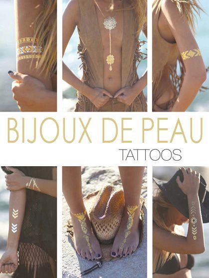 bijou de peau tatouage collier tatoo kit tatouage ephemere, bijou ephemere tattoo temporaire bijoux ephemeres