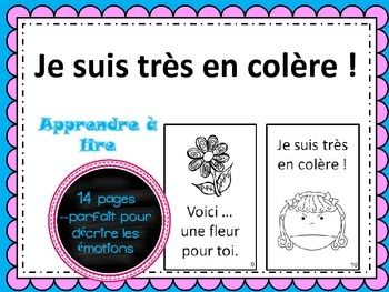 FREE emergent reader/book about emotions in French.