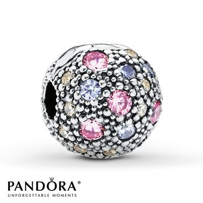 Pandora Clip Pink & Multi-color CZ Sterling Silver - Mother's Day Jared exclusive