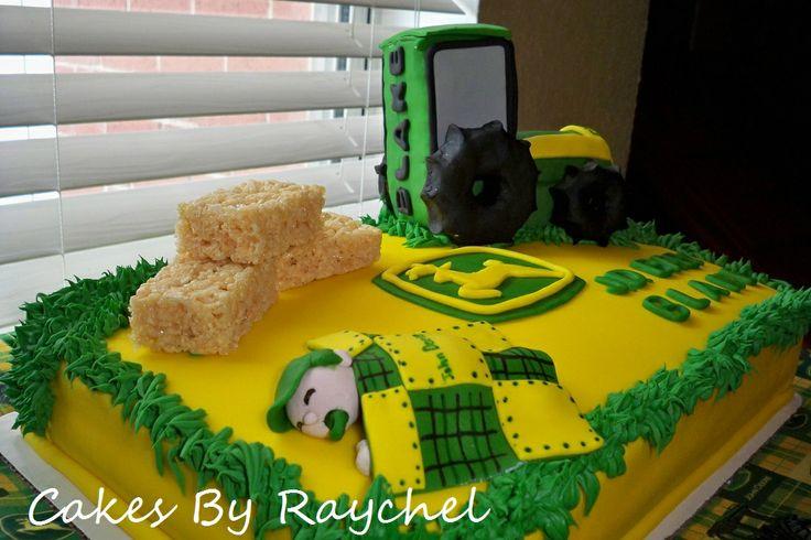 My Creative Way: John Deere Baby Shower Cake