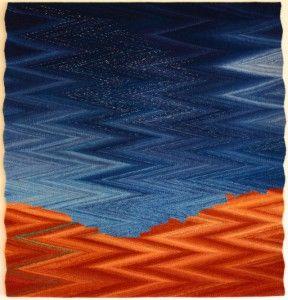 "Sarah Warren, ""Long Night Over the Canyon"", 2015, 36"" x 38"""