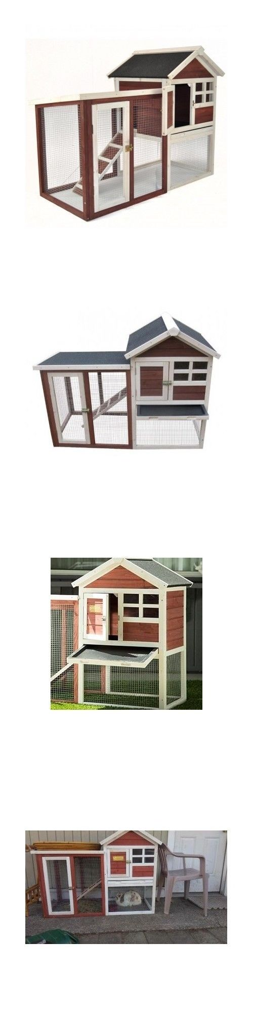 Backyard Poultry Supplies 177801: Chicken Coop Hen House Rabbit Bird Pet Bunny Hutch Cage Nesting Box Ramp Fence BUY IT NOW ONLY: $129.95