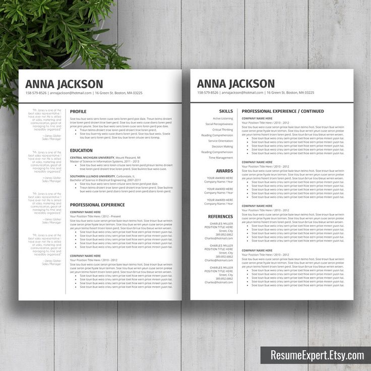 15 best resume templates download images on Pinterest Resume - resume fax cover letter
