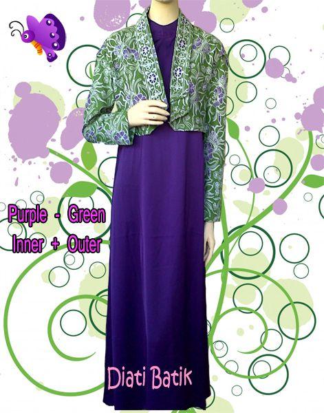 Baju muslim kombinasi batik