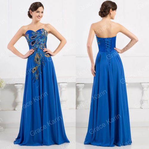 Peacock-Long-Evening-Gown-Prom-Formal-Bridesmaid-Dresses-Wedding-Guest-Party-New