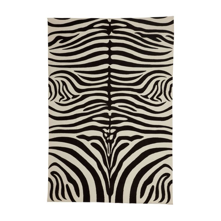 Zebra Rug Interior Design: Interior Design Trends :: Black And White. Zebra Rug