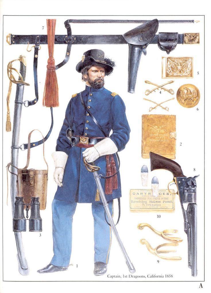 Captain, 1st Dragoons California, 1858