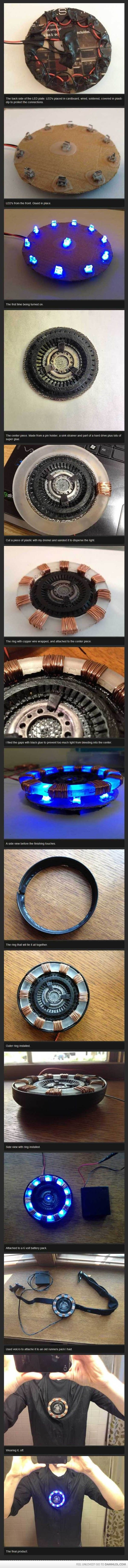 Tony Stark's miniaturized Arc Reactor. @Jamie Wise Wise D. I'm not sure if this is too much time on your hands or an over abundance of awesome.