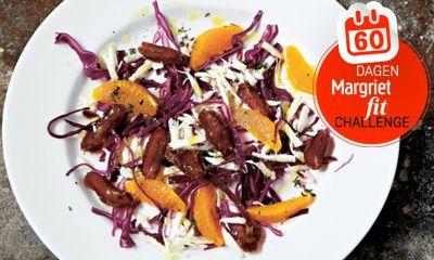 Deze salade is een perfect winters voorgerechtof een lichte lunch. Je maakt hem zo klaar, hijziet er prachtig uit en…