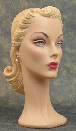 Beautiful vintage mannequin head