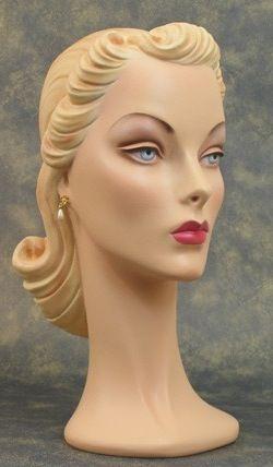 Beautiful vintage mannequin head