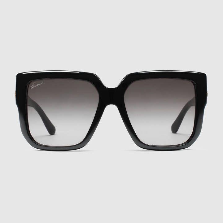 Gucci Women - Oversized square-frame sunglasses - 372815J13231005