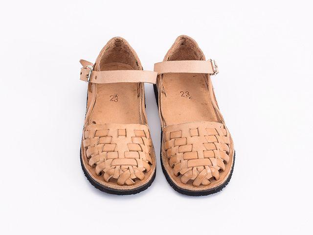 Handmade tan leather huraches sandal kids