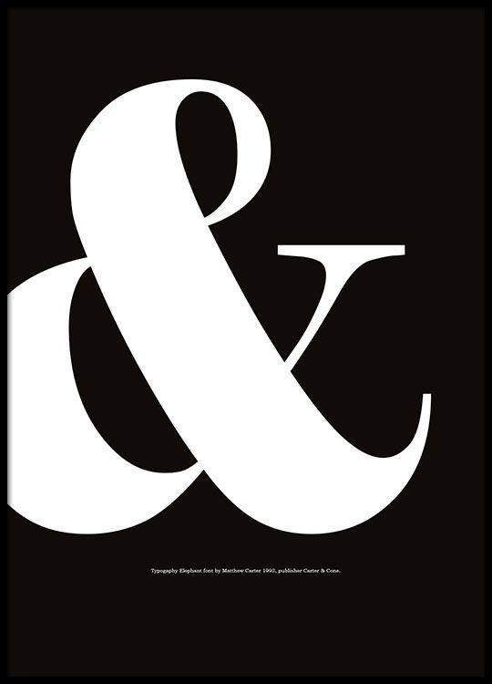 Graphic art-Poster mit Typografie in Schwarz-Weiß.