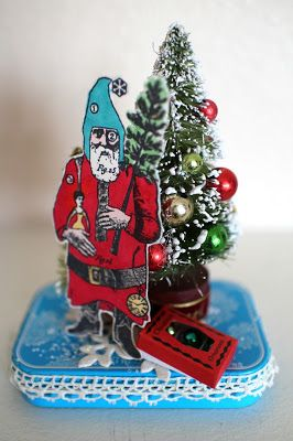 Artwork by Laura Sparks Turner working with stamps from Character Constructions Vintage Christmas collection.