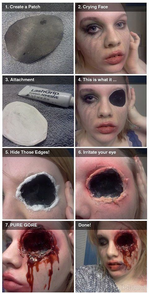 You have to be game.  this looks amazing.  Very creepy. Although I'm not sure I would want to have to deal with only being able to use one eye for an extended period of time