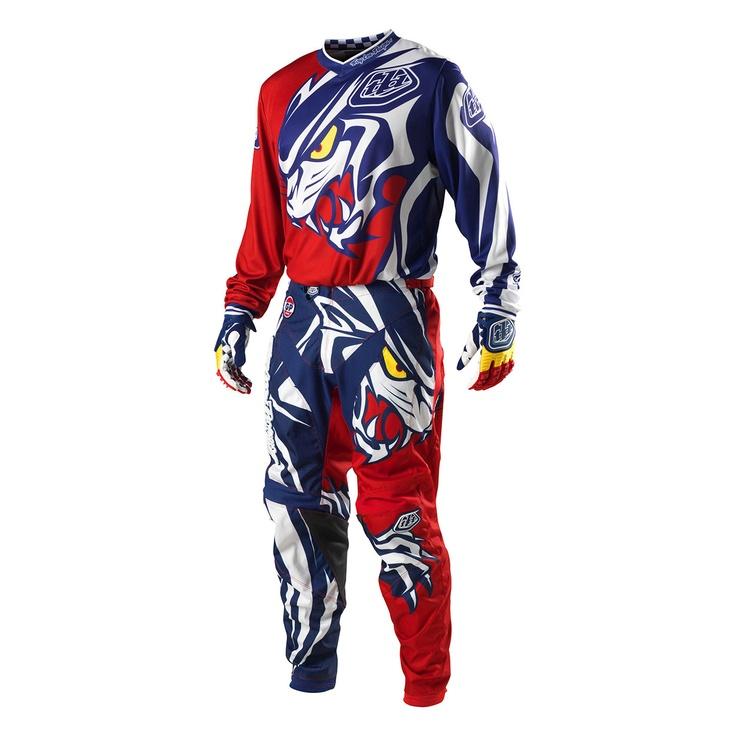 2013 Troy Lee Gp Youth Motocross Kit Combo - Predator Red - 2013 Troy Lee Motocross Kit Combos - 2013 Troy Lee Motocross Kits