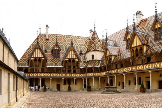Veterans hospitals of the fifteenth century, the Hospices de Beaune are visited for their traditional architecture and prestigious Burgundy vineyards.