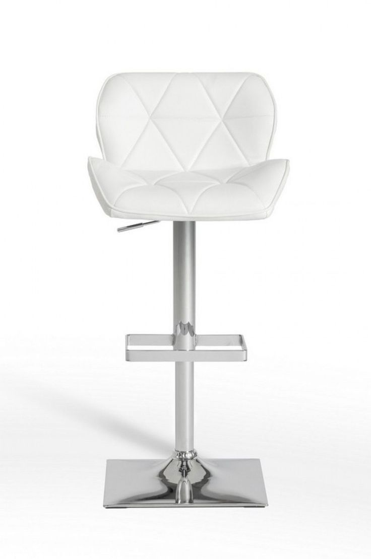 Modrest Otto Modern White Leatherette Bar Stool VGCBT1224-WHTProduct: 16166  Features:WhiteEco-