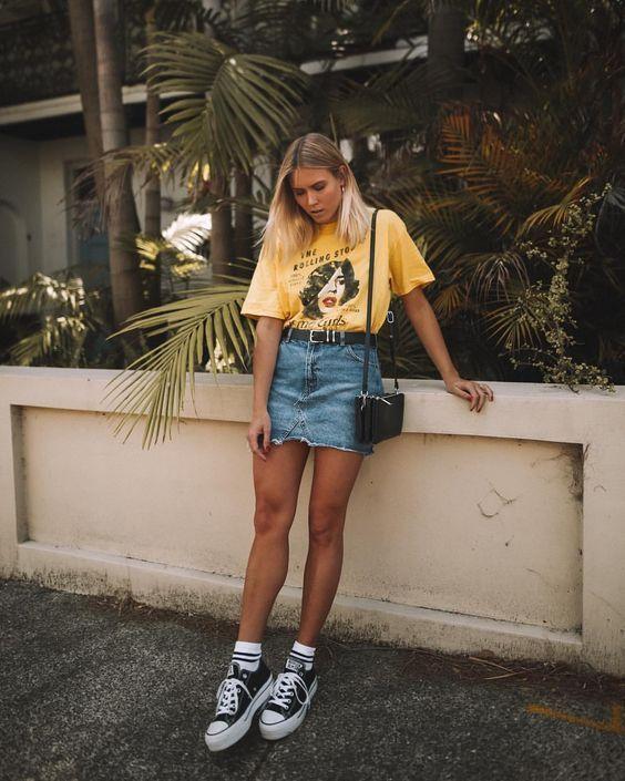 Jeans jupes: Son retour – #de #Jean #Polleras #regreso #su