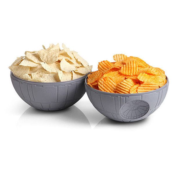 Star Wars Death Star Chip & Dip Bowls ($20) ❤ liked on Polyvore featuring home, kitchen & dining, serveware, chip and dip bowl, chip and dip tray, chip dip bowl ve thinkgeek
