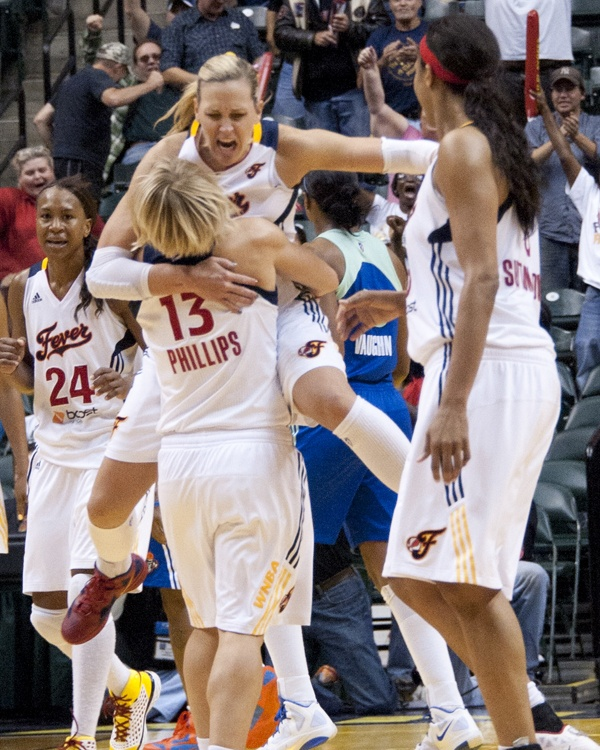 2011:  Erin Phillips and Katie Douglas celebrate after a game winning shot by PhillipsGames Win, Win Shots, Erin Phillip, Kt Douglas, Katy Douglas, Douglas Celebrities