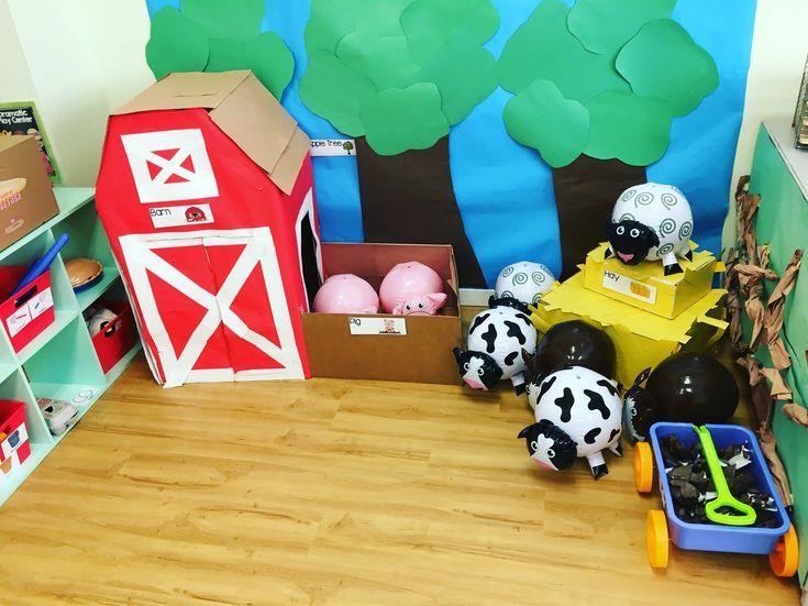 Farm preschool dramatic play