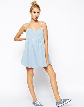 Увеличить Свободное джинсовое платье AmericanApparel