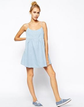Enlarge American Apparel Denim Smock Dress
