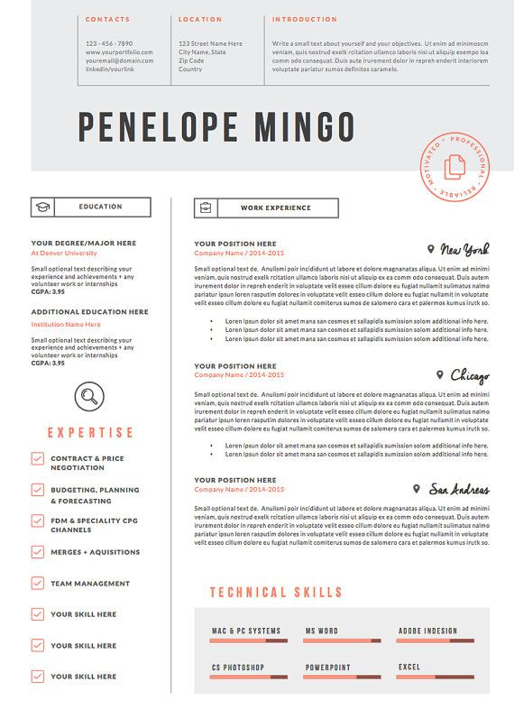 19 best CV images on Pinterest Plants, Business cards and Creative - resume 1 page