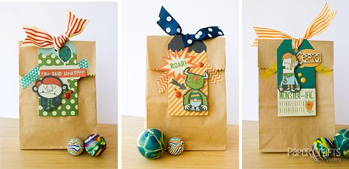 Kim Kesti - Paper Crafts & Scrapbooking blog: paper crafting, gift wrap, party favors, boys
