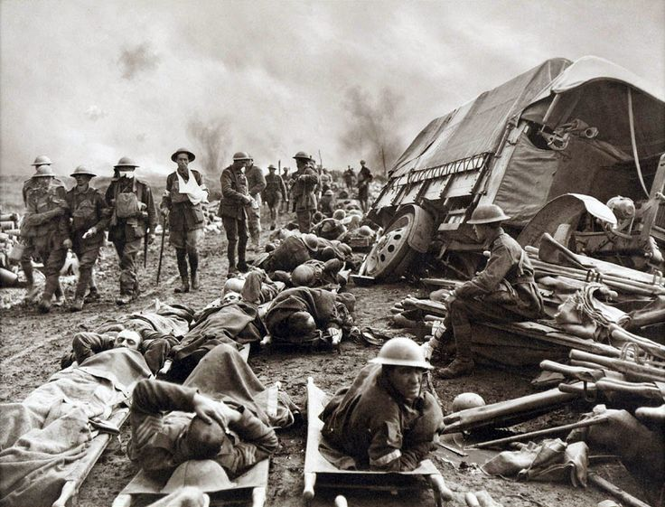 Battle of Menin Road - wounded at side of the road - Battle of Passchendaele - Wikipedia