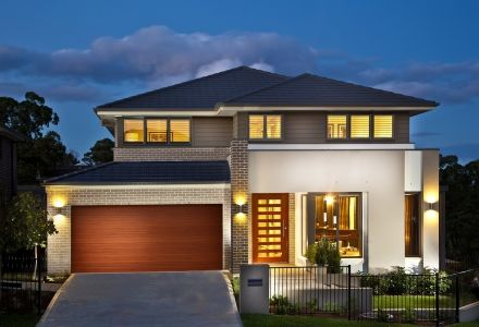 Clarendon Display Homes: Sherwood 37 Linea Facade. Visit www.localbuilders.com.au/display_homes_nsw.htm for all display homes in New South Wales