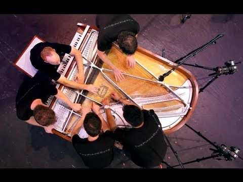 One Direction - What Makes You Beautiful (5 Piano Guys, 1 piano) - ThePianoGuys.  I love this video.