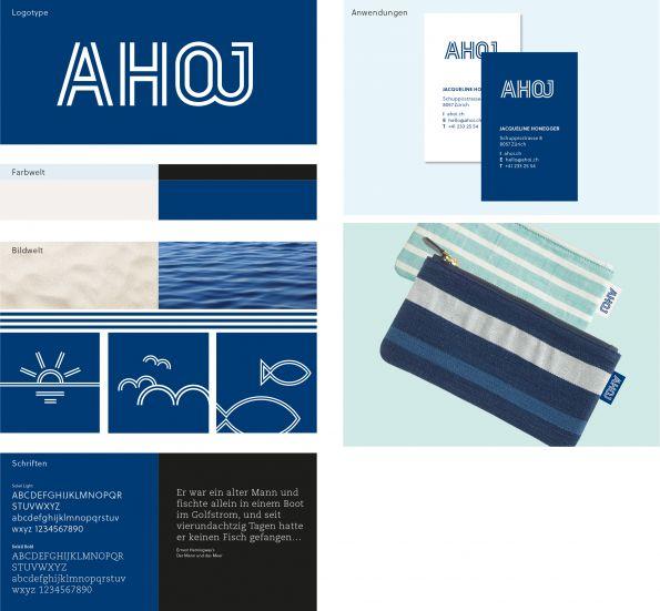 """Basiselemente und Kernanwendung des Labels """"Ahoj"""". Die Inspiration für Taschen und Farben holt sich die Designerin auf Reisen an die Küsten Frankreichs. (Bild: Bühlmann Pearson, Zürich)"""