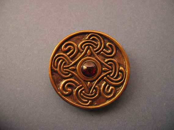Viking Disc Brooch -- based on 9th-10th century Borre style disc brooches.   (I wear it often.)