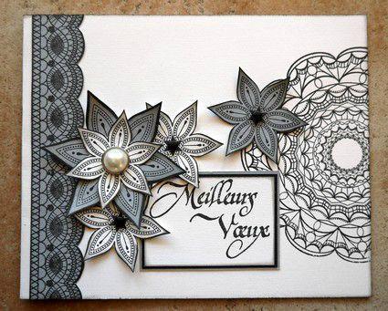 quelques cartes de scrapeuses, reçues pour les fêtes : celle de Cath celle de Corinne celle de Marie-Christine celle de Mélanie ...